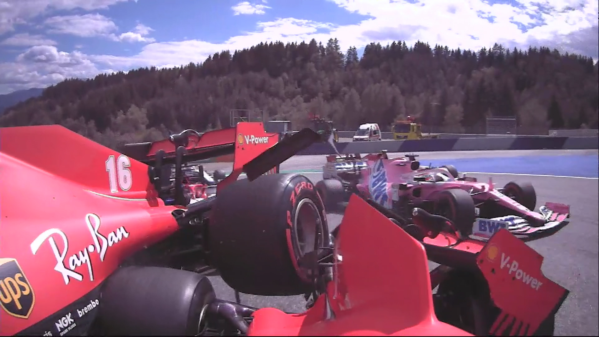 All the Angles: Vettel and Leclerc collide in Styria