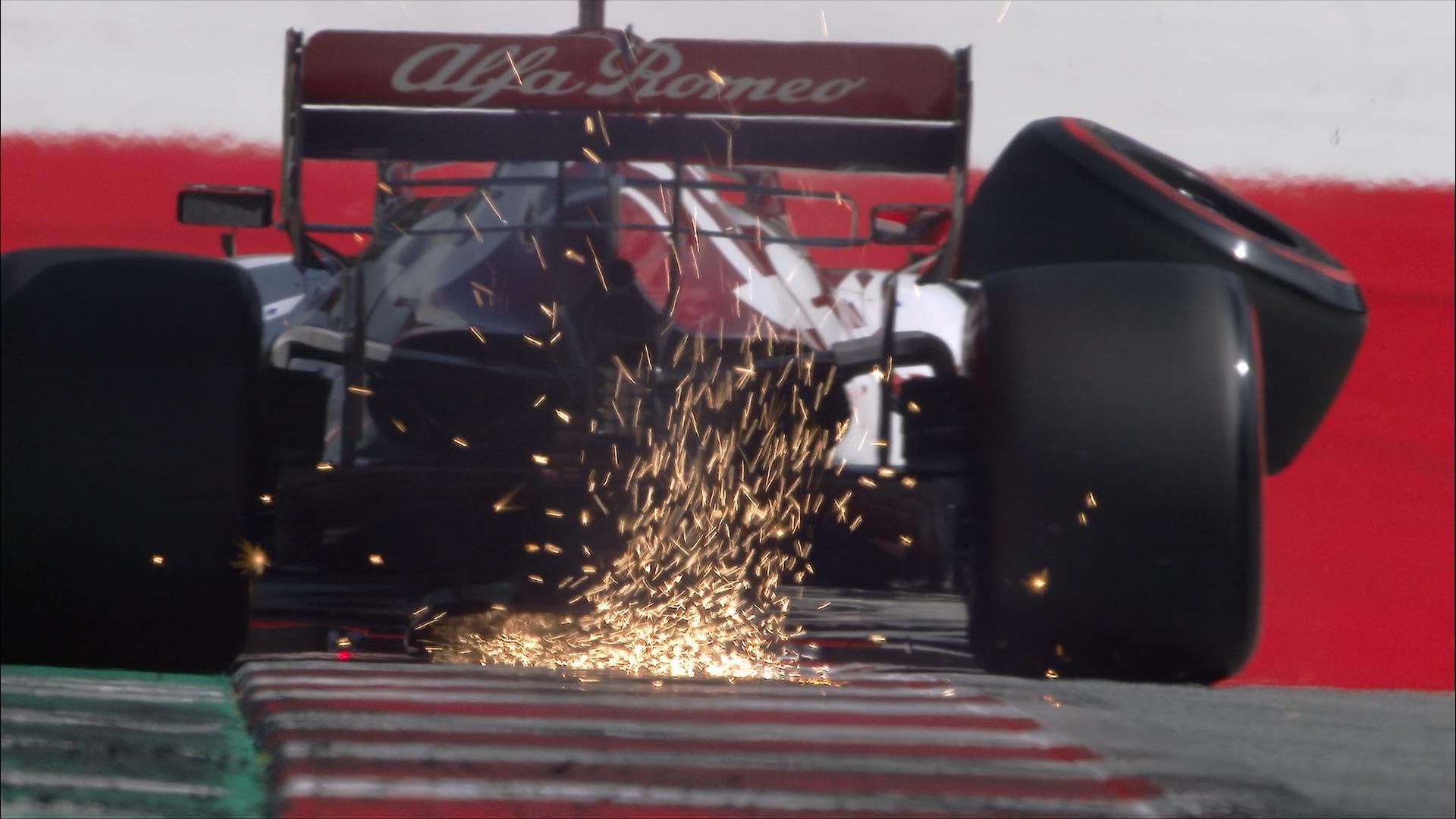 Austrian Grand Prix 2020: Raikkonen's wheel flies off