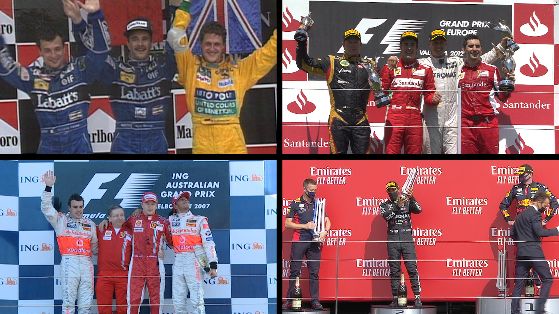 Hamilton matches Schumacher's incredible record of 155 podiums