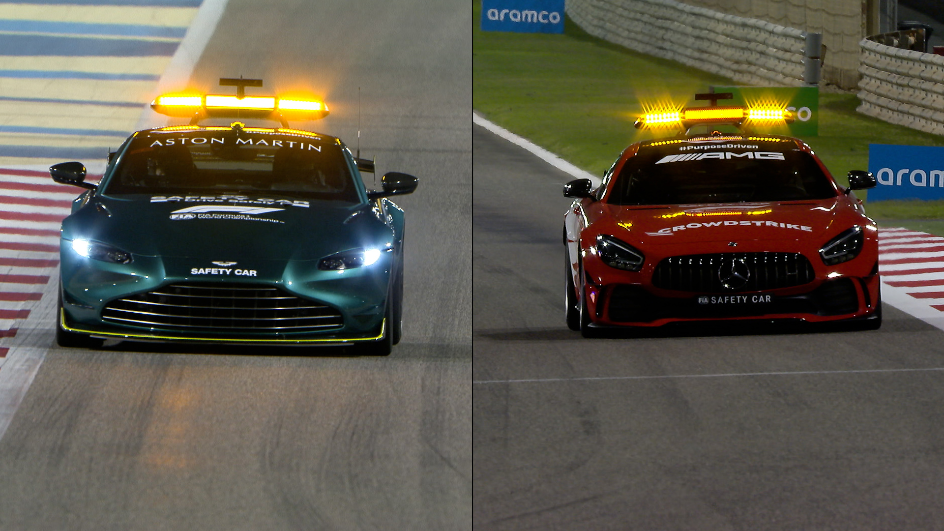 Watch New Look Red F1 Safety Car Takes To Bahrain Track Ahead Of Pre Season Testing Formula 1