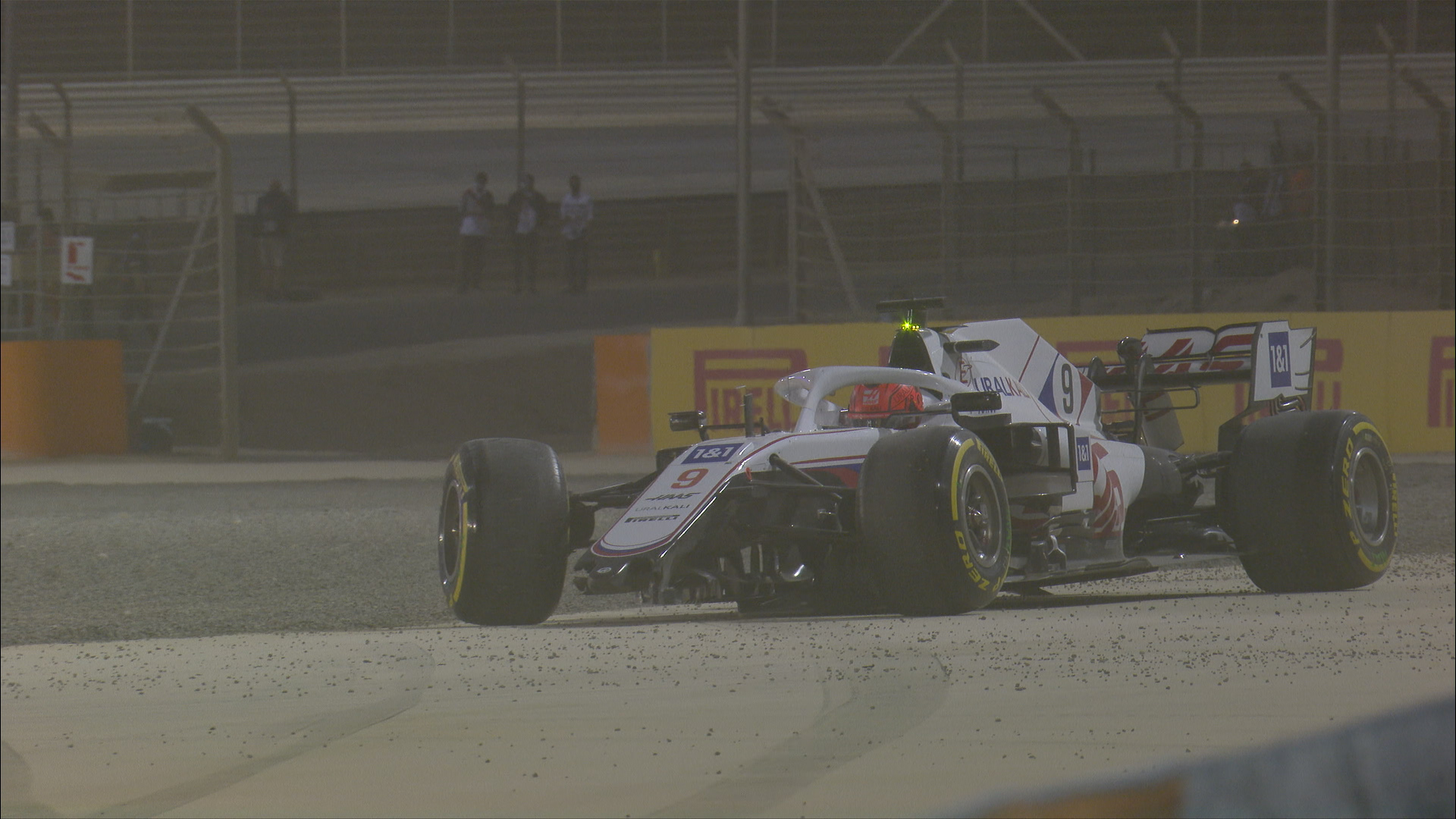 2021 Bahrain Grand Prix: Mazepin spins and crashes on Lap 1