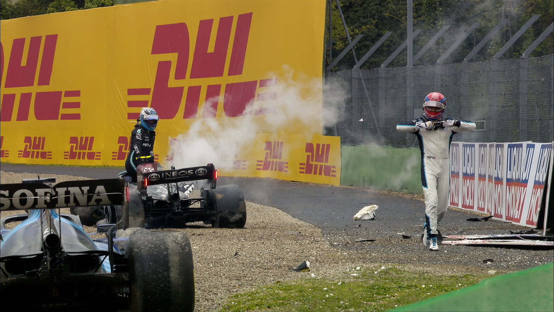 Who was to blame? All the reactions to Bottas and Russell's Imola crash