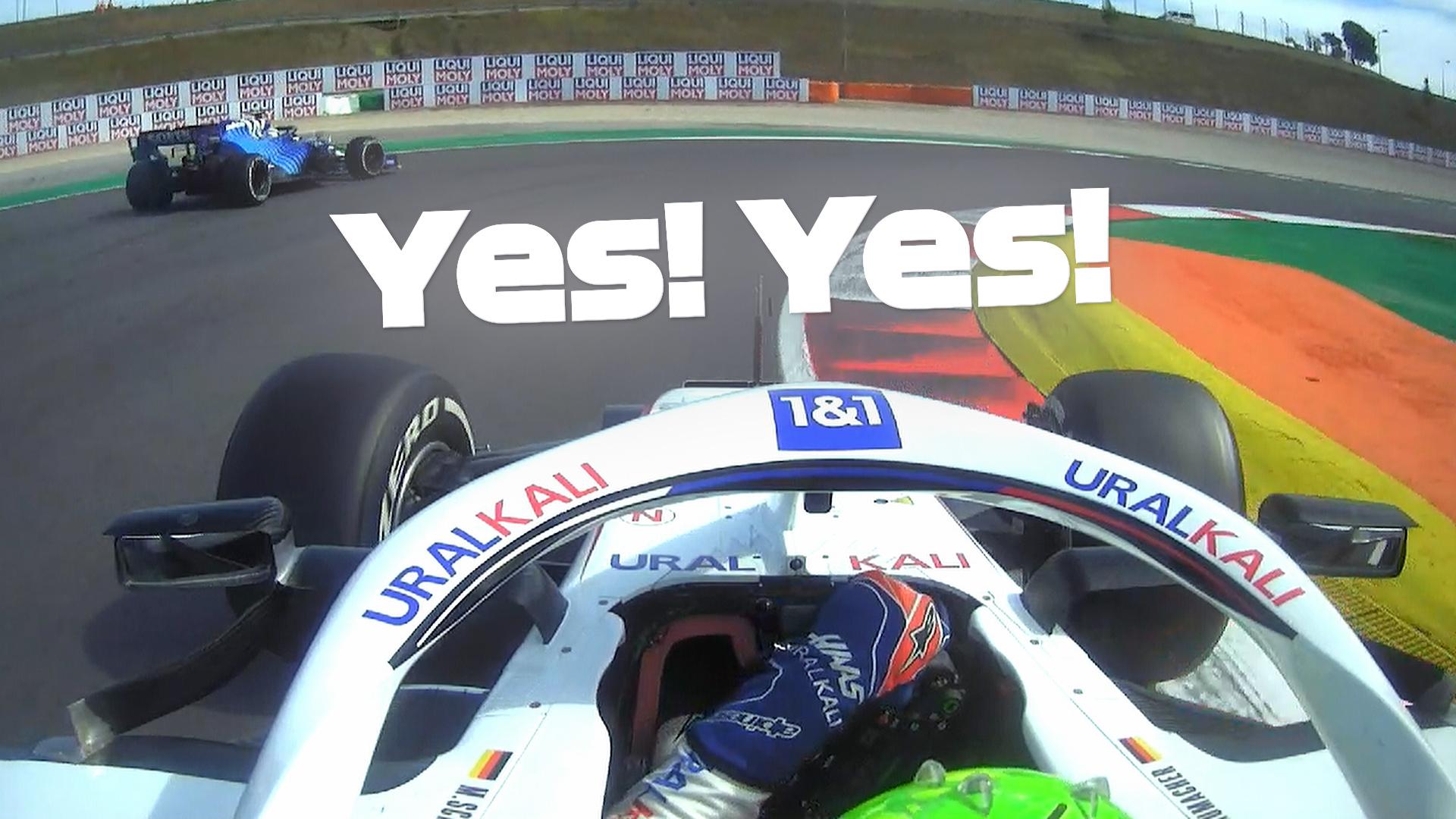 2021 Portuguese Grand Prix: Schumacher overtakes Latifi for P17