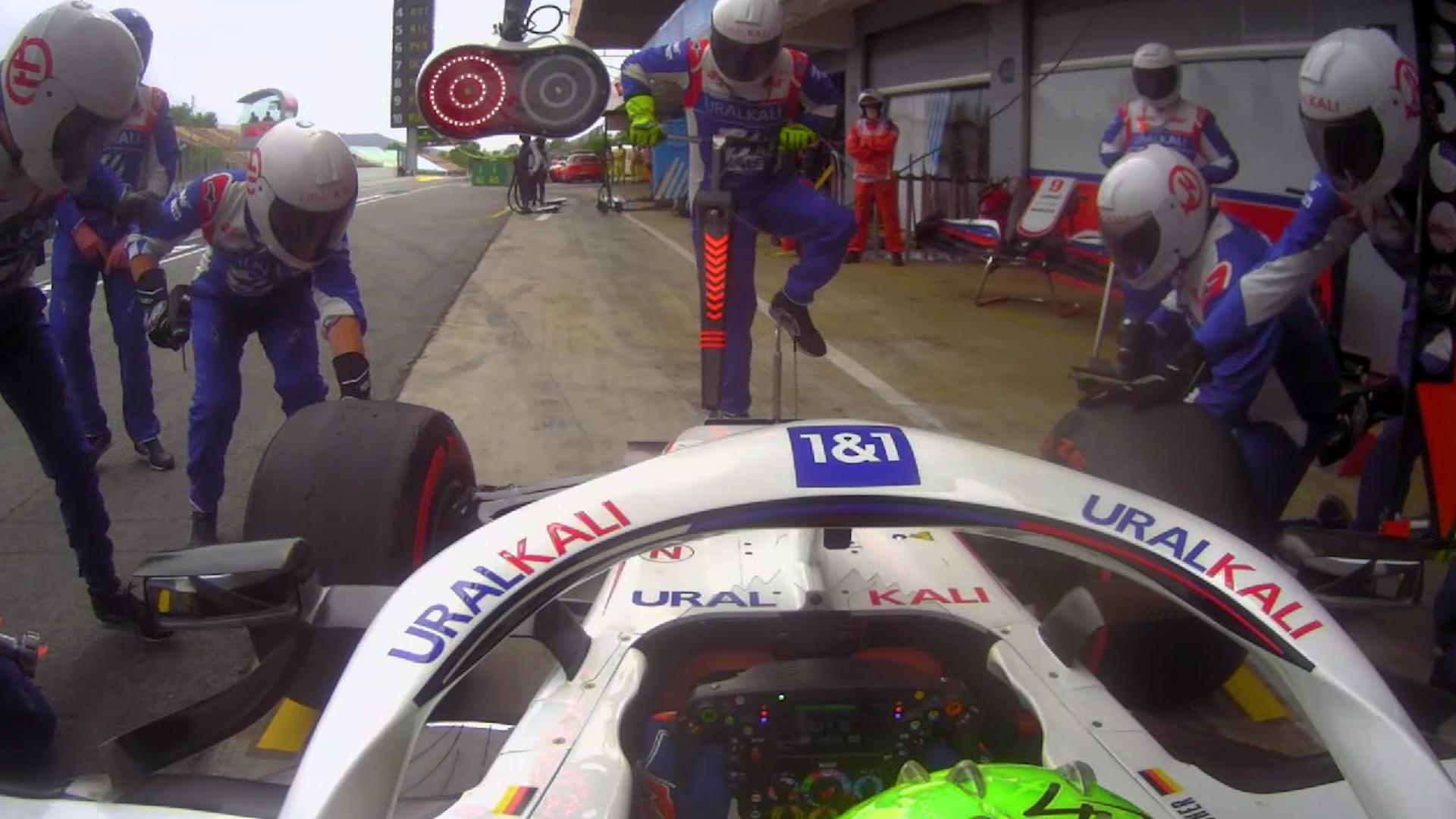 2021 Spanish Grand Prix: Schumacher keeps jackman on his toes