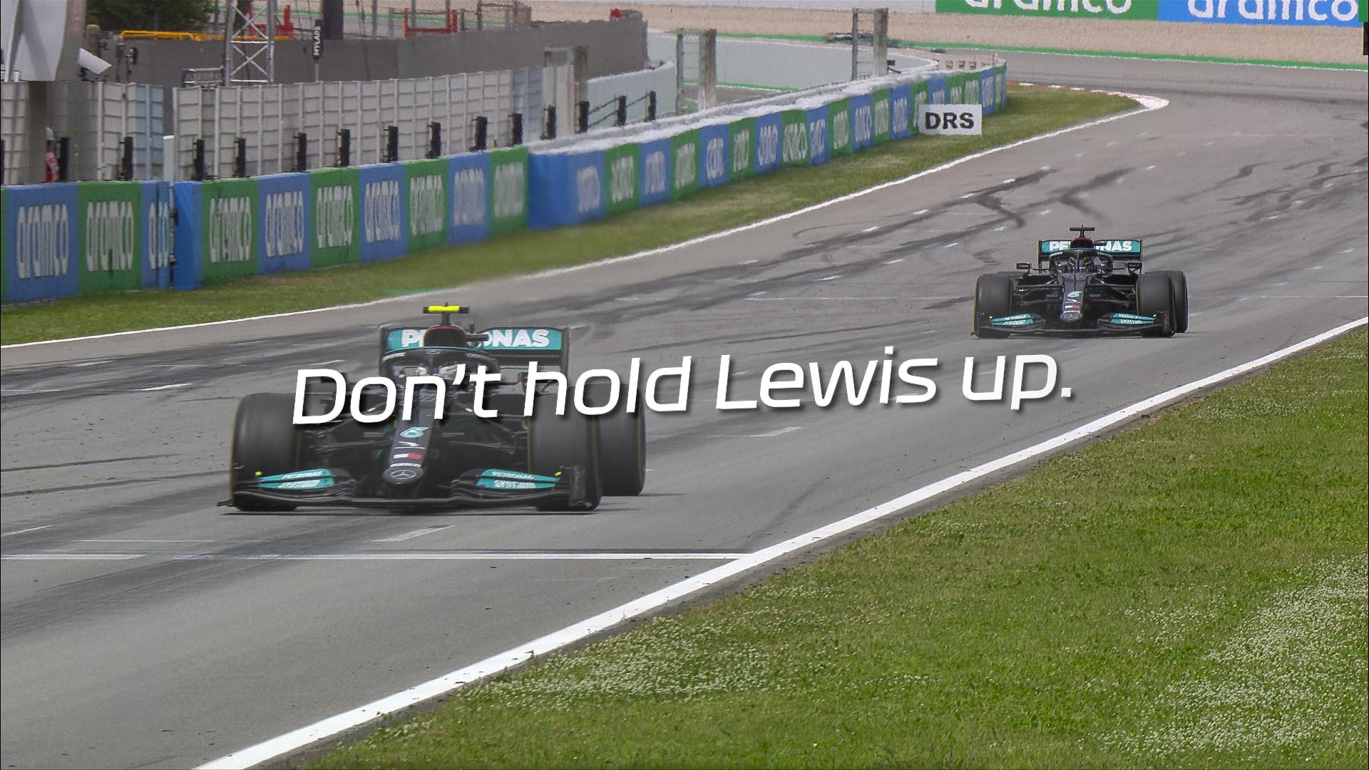 2021 Spanish Grand Prix: Bottas resists team orders to force Hamilton overtake