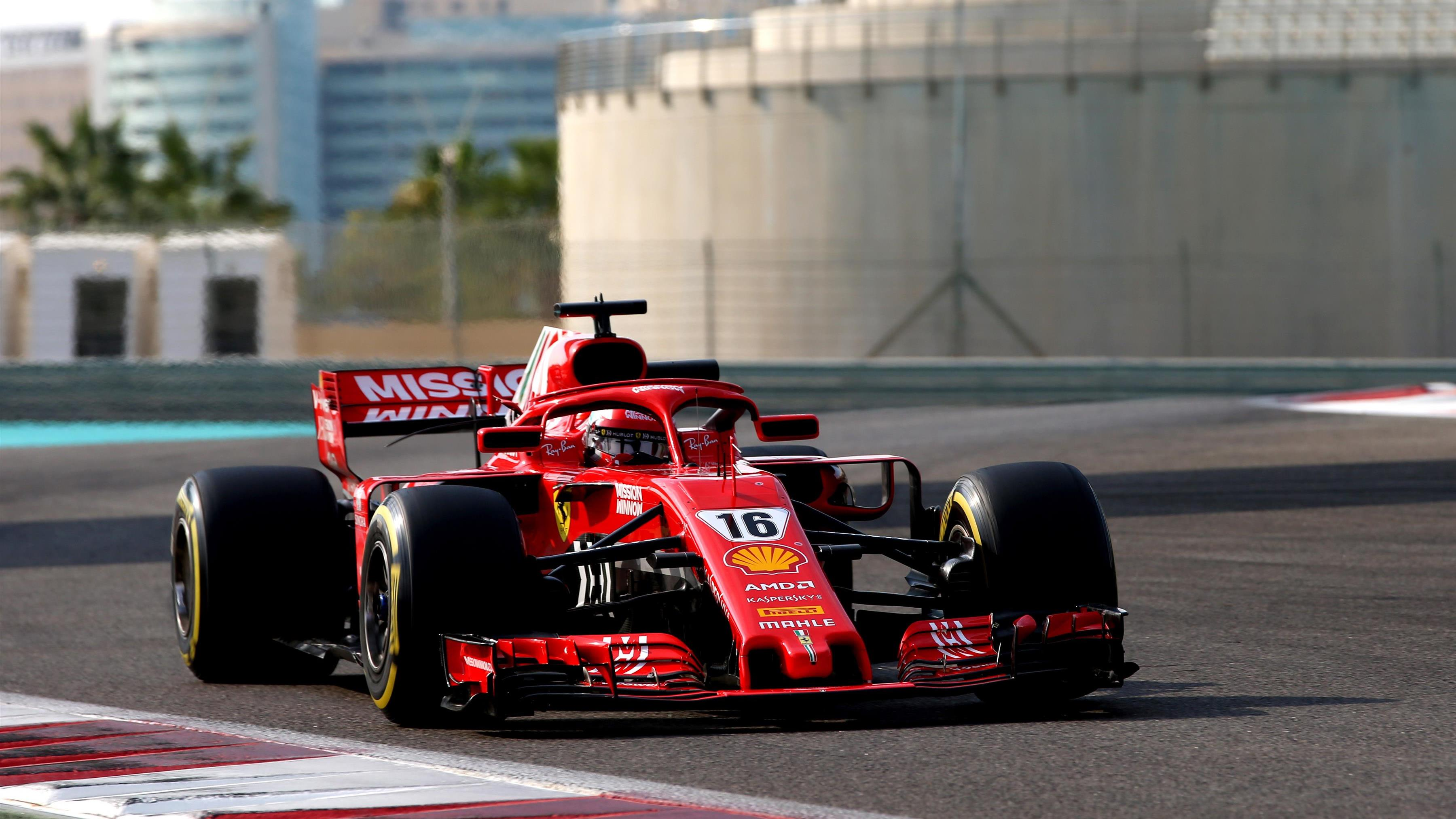 new ferrari driver leclerc tops final 2018 test session in abu dhabi formula 1. Black Bedroom Furniture Sets. Home Design Ideas