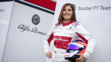 Tatiana Calderon completes maiden F1 run with Sauber