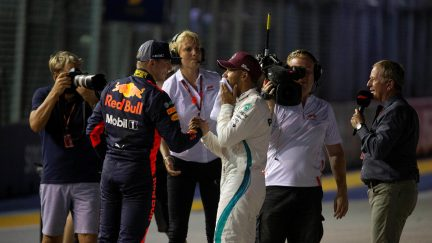 Verstappen Didn't Want To Risk On Passing Hamilton For Singapore Win