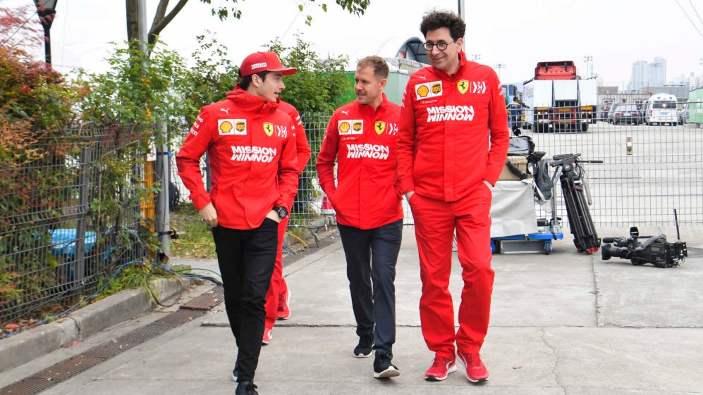 Image result for binotto leclerc vettel