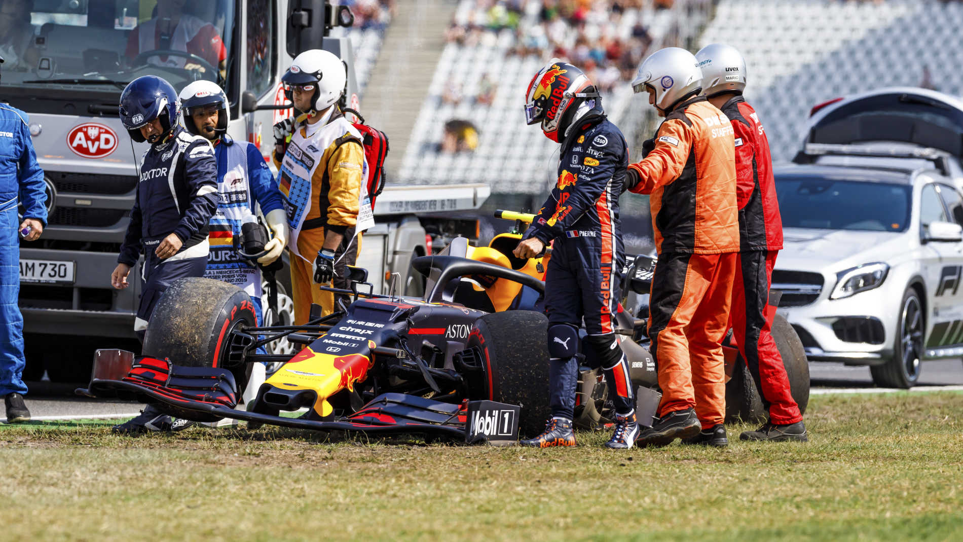 Gasly's German GP practice crash 'annoying' says Red Bull