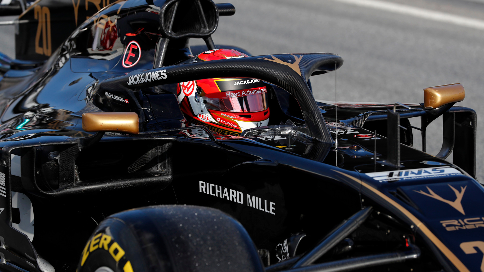 St Charles Mercedes >> F1 pre-season testing: Magnussen left 'struggling to see' after Haas headrest issue | Formula 1®