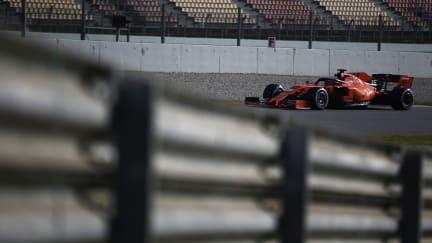 Sebastian Vettel explains F1 testing crash after Ferrari ploughs into wall