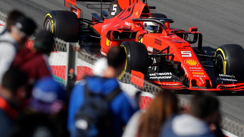 Image result for circuit de catalunya ferrari testing 2019