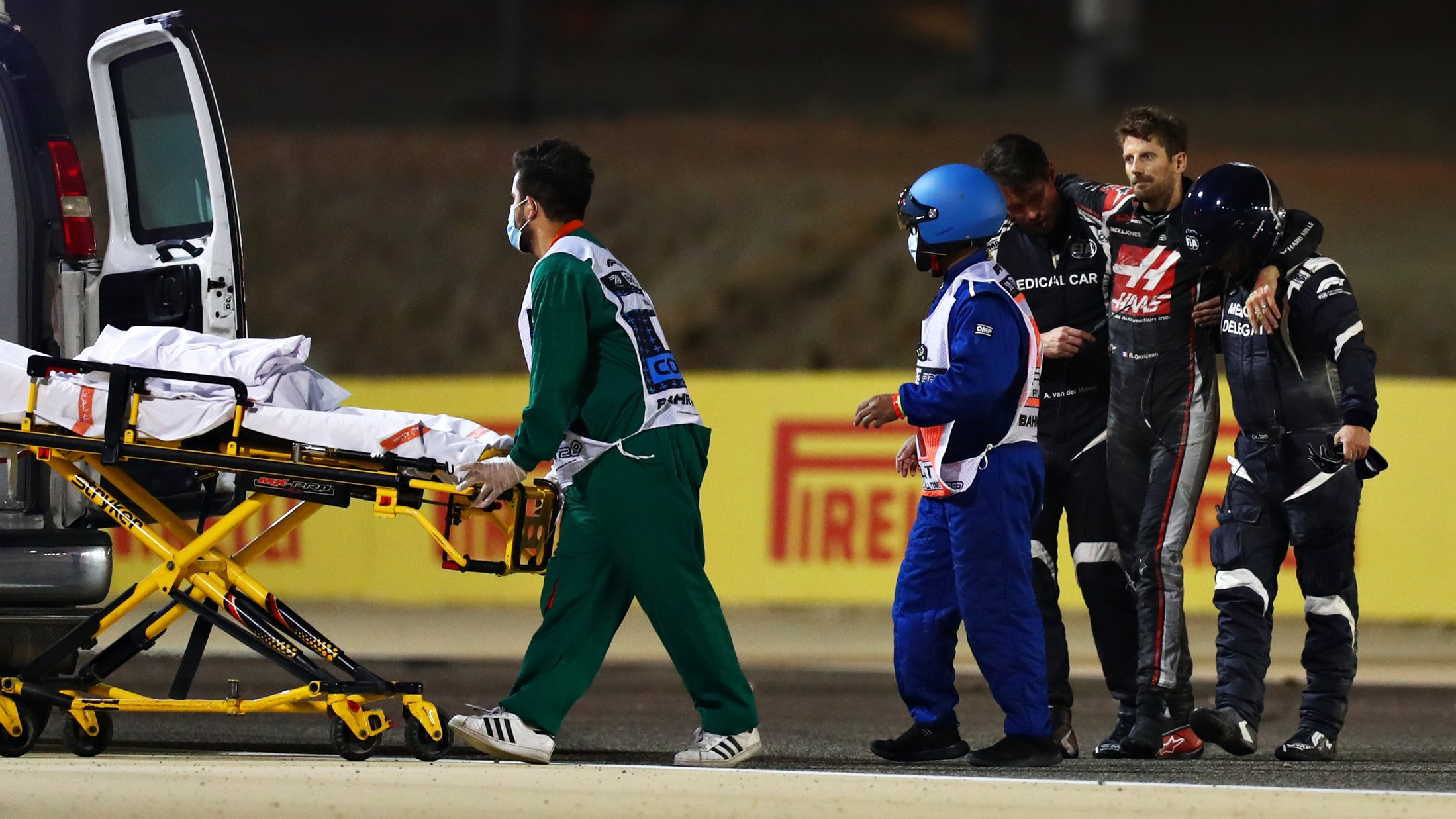 Grosjean describes halo as 'greatest thing' from hospital bed, saying he 'wouldn't be here without it' | Formula 1®