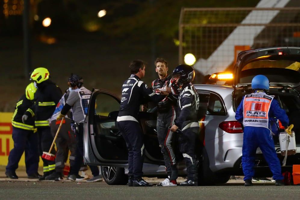 Romain Grosjean Crash 2020 Bahrain GP