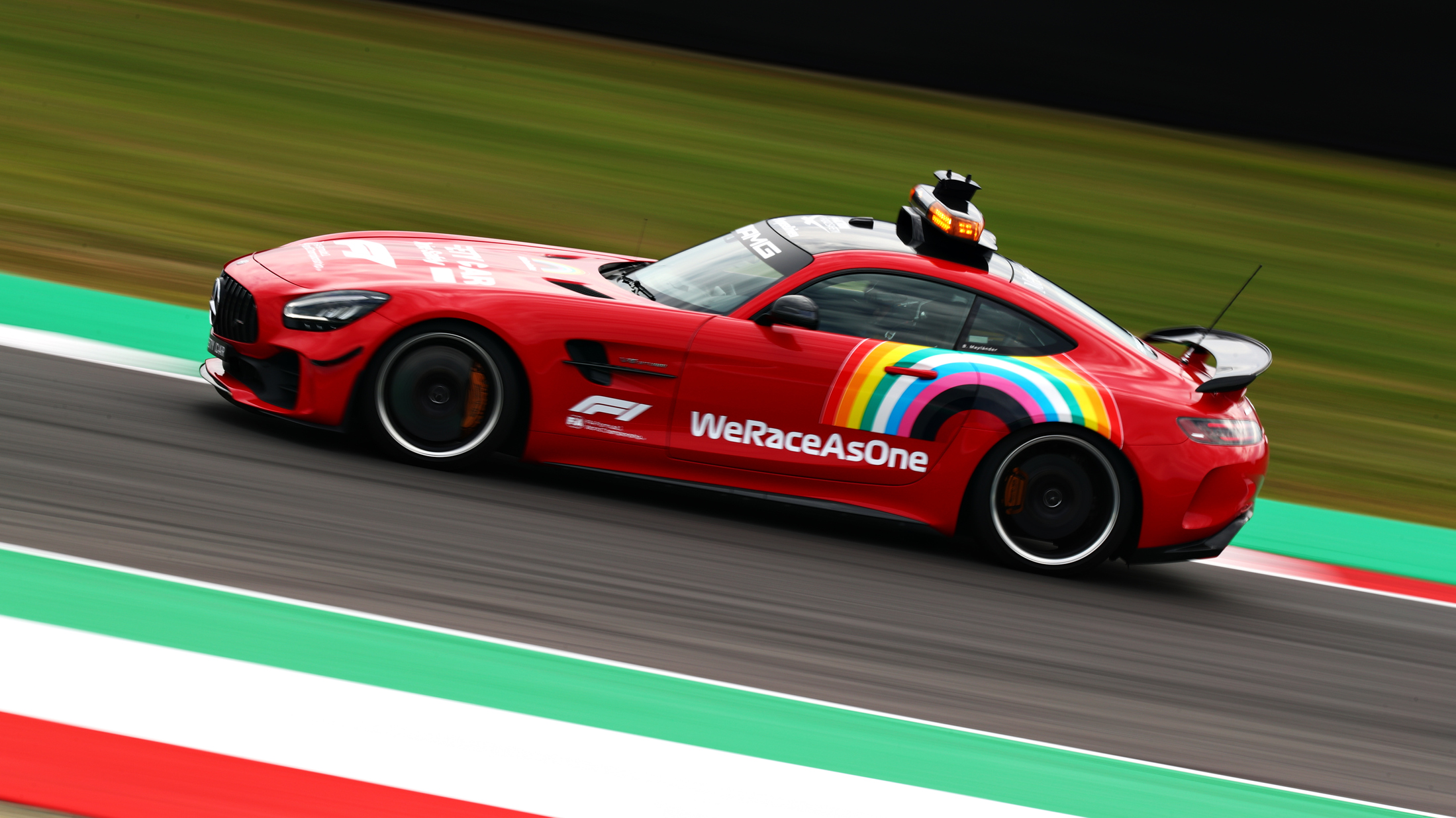 Safety Car Sports Special Red Livery At Mugello To Celebrate Ferrari S 1000th Gp Formula 1