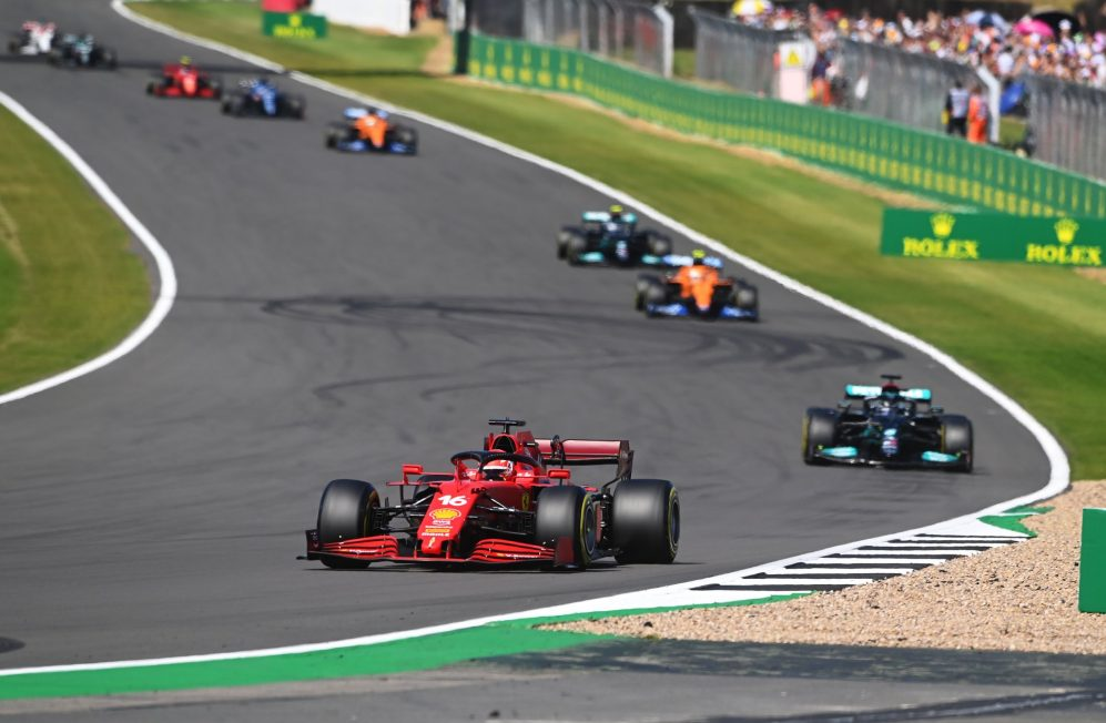 2021 British Grand Prix race report & highlights: Hamilton overcomes  first-lap collision with Verstappen to hunt down Leclerc for 8th British GP  win | Formula 1®