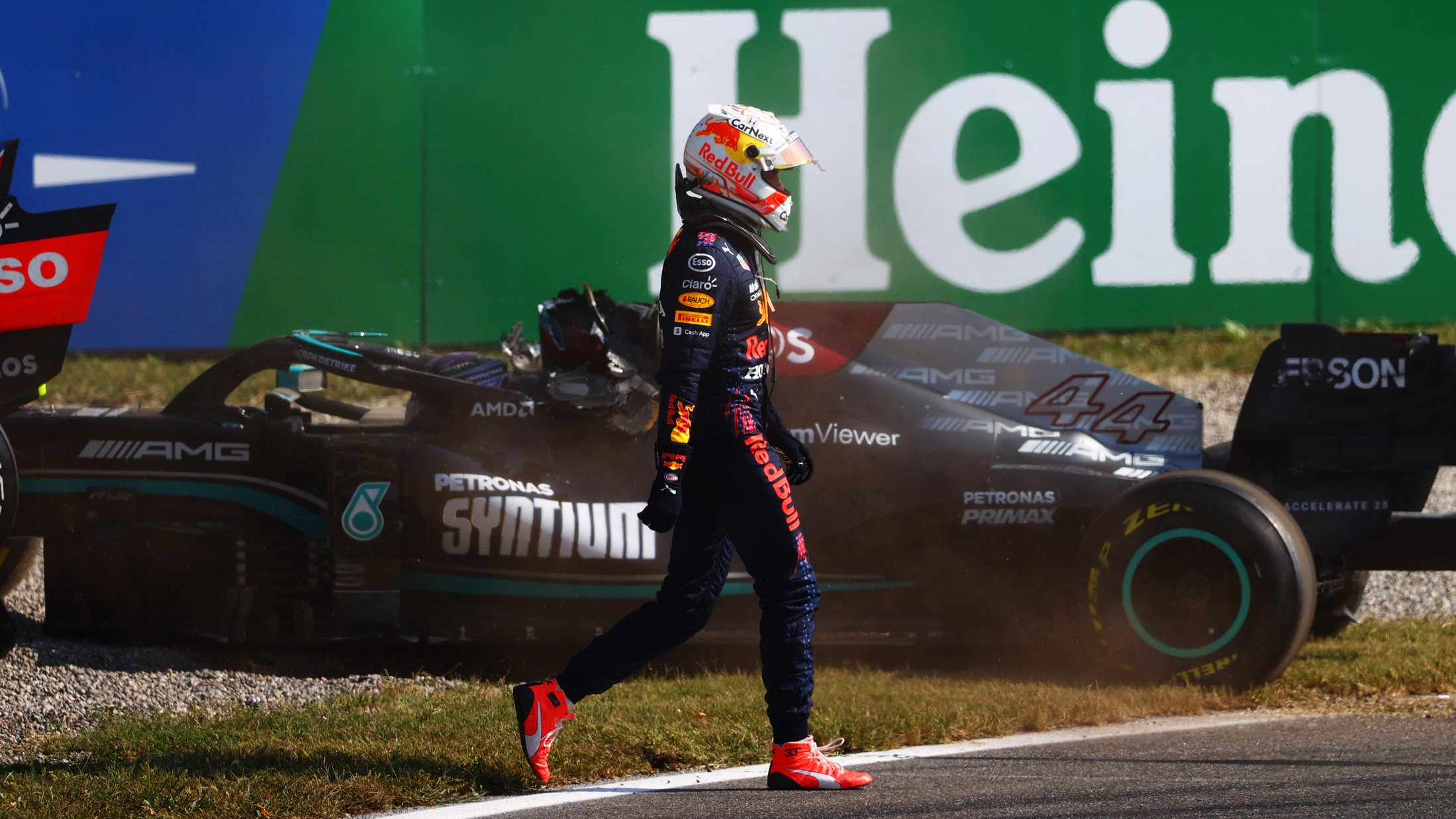 Max Verstappen handed three-place grid drop for Sochi after crash with Hamilton at Monza | Formula 1®