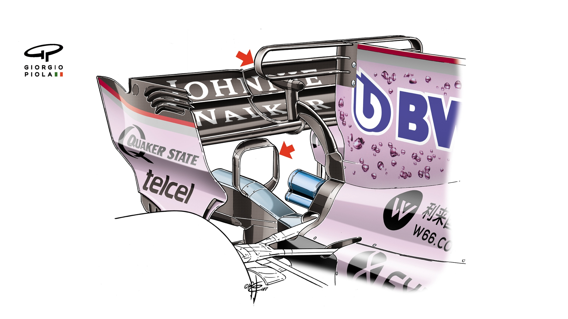 Whats New For 2018 F1 Engine Diagram Goodbye To T Wings And Shark Fins