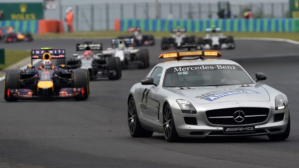 The safety car and suspending a race