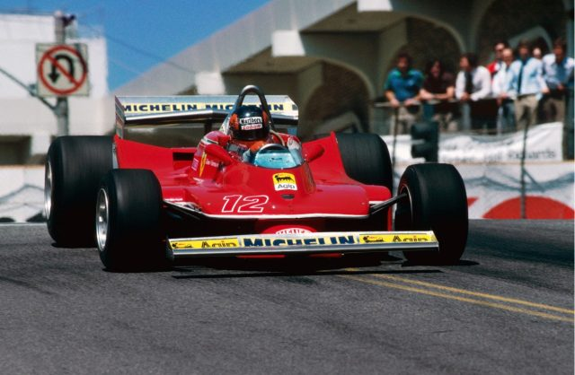 Pole sitter and race winner Gilles Villeneuve (CDN) Ferrari 312T4. United States Grand Prix West, Rd 4, Long Beach, California, USA, 8 April 1979. World © Phipps/Sutton. © No reproduction without permission.