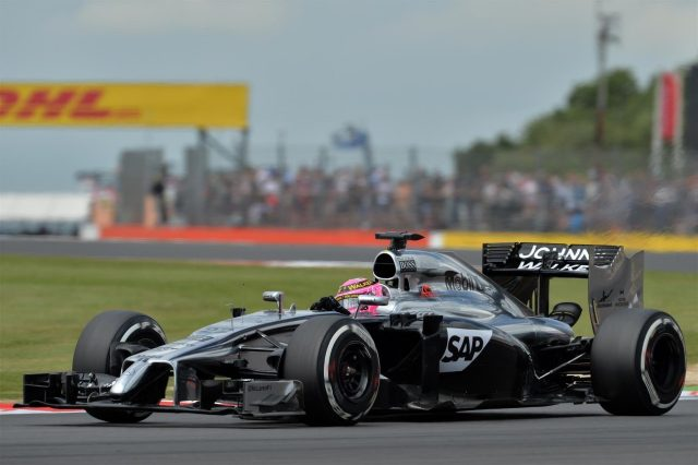Jenson Button (GBR) McLaren MP4-29. Formula One World Championship, Rd9, British Grand Prix, Practice, Silverstone, England, Friday, 4 July 2014
