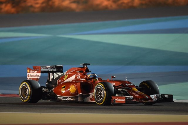 Fernando Alonso (ESP) Ferrari F14 T. Formula One World Championship, Rd3, Bahrain Grand Prix, Practice, Bahrain International Circuit, Sakhir, Bahrain, Friday, 4 April 2014