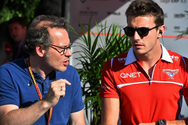 Jacques Villeneuve (CDN) and Jules Bianchi (FRA) Marussia F1 Team. Formula One World Championship, Rd7, Canadian Grand Prix, Practice, Montreal, Canada, Friday, 6 June 2014