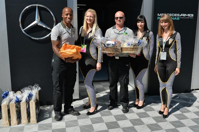 Circuit welcome gifts for Mercedes AMG F1. Formula One World Championship, Rd10, German Grand Prix, Preparations, Hockenheim, Germany, Thursday, 17 July 2014 © Sutton Images. No reproduction without permission