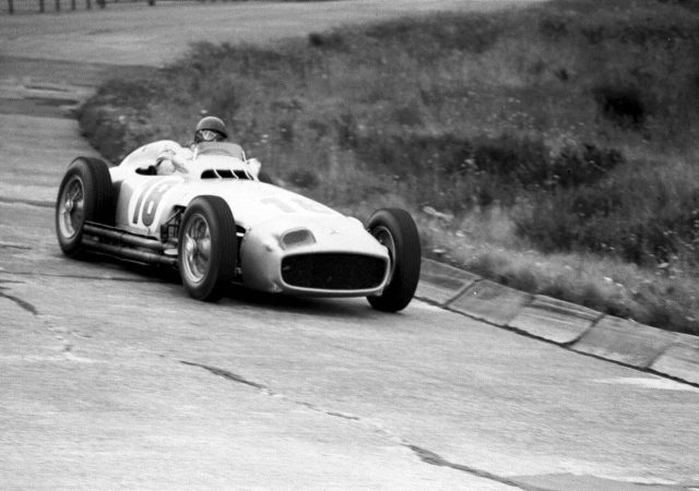1954 German Grand Prix. Nurburgring, Germany. 30/7-1/8 1954. Juan Manuel Fangio (Mercedes-Benz W196) 1st position. © LAT Photographic