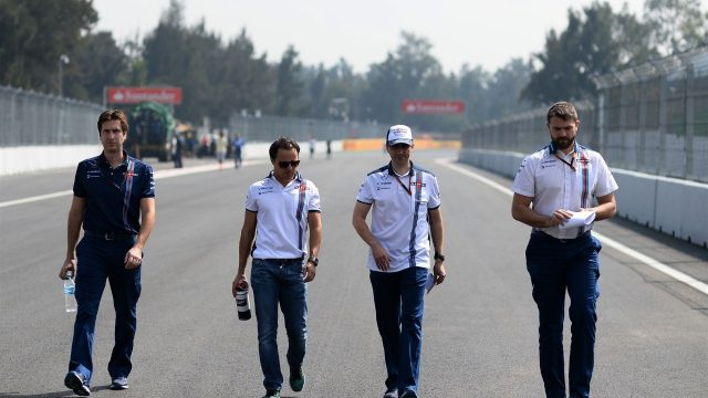 Felipe Massa (BRA) Williams walks the track at Formula One World Championship, Rd17, Mexican Grand Prix, Preparations, Circuit Hermanos Rodriguez, Mexico City, Mexico, Thursday 29 October 2015. &copy&#x3b; Sutton Motorsport Images