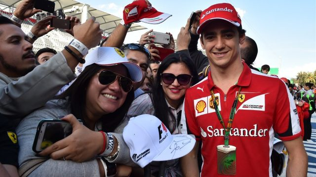 Esteban Gutierrez (MEX) Ferrari Test and Reserve Driver and fans at the autograph session at Formula One World Championship, Rd17, Mexican Grand Prix, Preparations, Circuit Hermanos Rodriguez, Mexico City, Mexico, Thursday 29 October 2015. &copy&#x3b; Sutton Motorsport Images