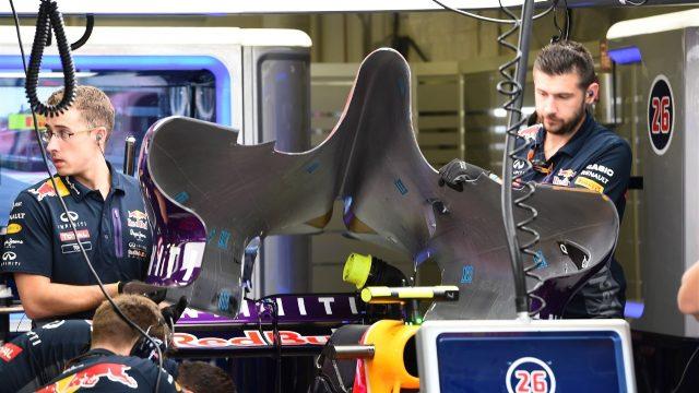 Red Bull Racing RB11 bodywork at Formula One World Championship, Rd17, Mexican Grand Prix, Practice, Circuit Hermanos Rodriguez, Mexico City, Mexico, Friday 30 October 2015. &copy&#x3b; Sutton Motorsport Images