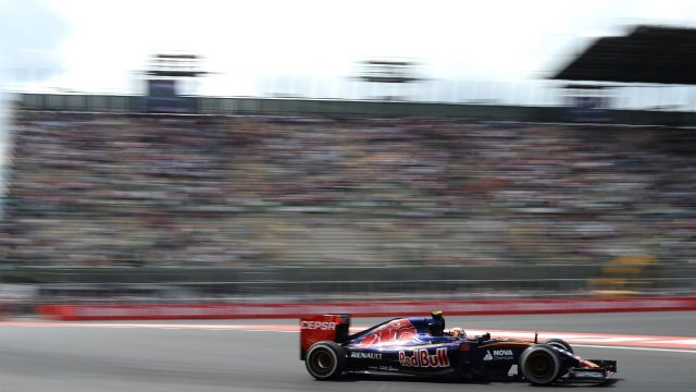 Carlos Sainz (ESP) Scuderia Toro Rosso STR10 at Formula One World Championship, Rd17, Mexican Grand Prix, Practice, Circuit Hermanos Rodriguez, Mexico City, Mexico, Friday 30 October 2015. &copy&#x3b; Sutton Motorsport Images