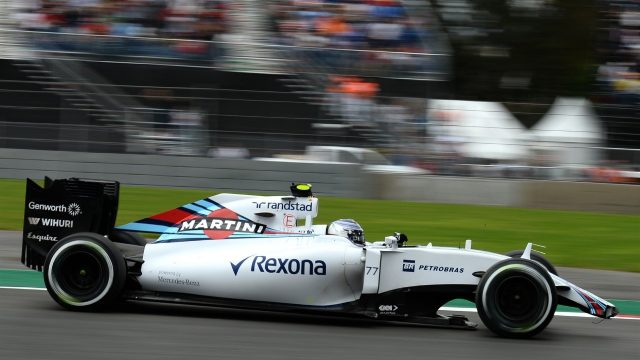 Valtteri Bottas (FIN) Williams FW37 with broken front wing in FP2 at Formula One World Championship, Rd17, Mexican Grand Prix, Practice, Circuit Hermanos Rodriguez, Mexico City, Mexico, Friday 30 October 2015. &copy&#x3b; Sutton Motorsport Images