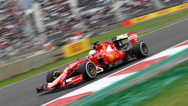 Sebastian Vettel (GER) Ferrari SF15-T at Formula One World Championship, Rd17, Mexican Grand Prix, Practice, Circuit Hermanos Rodriguez, Mexico City, Mexico, Friday 30 October 2015. &copy&#x3b; Sutton Motorsport Images