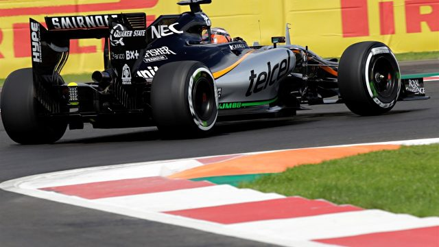 Nico Hulkenberg (GER) Force India VJM08at Formula One World Championship, Rd17, Mexican Grand Prix, Practice, Circuit Hermanos Rodriguez, Mexico City, Mexico, Friday 30 October 2015. &copy&#x3b; Sutton Motorsport Images