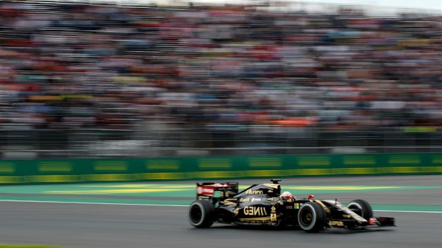 Romain Grosjean (FRA) Lotus E23 Hybrid at Formula One World Championship, Rd17, Mexican Grand Prix, Practice, Circuit Hermanos Rodriguez, Mexico City, Mexico, Friday 30 October 2015. &copy&#x3b; Sutton Motorsport Images