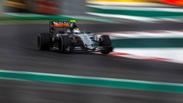 Sergio Perez (MEX) Force India VJM08 at Formula One World Championship, Rd17, Mexican Grand Prix, Practice, Circuit Hermanos Rodriguez, Mexico City, Mexico, Friday 30 October 2015. &copy&#x3b; Sutton Motorsport Images