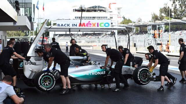 Lewis Hamilton (GBR) Mercedes AMG F1 W06 at Formula One World Championship, Rd17, Mexican Grand Prix, Preparations, Circuit Hermanos Rodriguez, Mexico City, Mexico, Thursday 29 October 2015. &copy&#x3b; Sutton Motorsport Images
