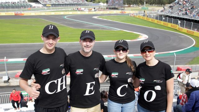 Fans with Sergio Perez (MEX) t-shirts at Formula One World Championship, Rd17, Mexican Grand Prix, Qualifying, Circuit Hermanos Rodriguez, Mexico City, Mexico, Saturday 31 October 2015. &copy&#x3b; Sutton Motorsport Images