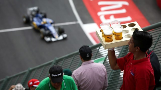 Beer at Formula One World Championship, Rd17, Mexican Grand Prix, Qualifying, Circuit Hermanos Rodriguez, Mexico City, Mexico, Saturday 31 October 2015. &copy&#x3b; Sutton Motorsport Images