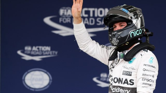 Pole sitter Nico Rosberg (GER) Mercedes AMG F1 celebrates in parc ferme at Formula One World Championship, Rd17, Mexican Grand Prix, Qualifying, Circuit Hermanos Rodriguez, Mexico City, Mexico, Saturday 31 October 2015. &copy&#x3b; Sutton Motorsport Images