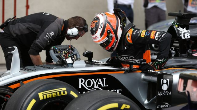 Nico Hulkenberg (GER) Force India VJM08 in parc ferme at Formula One World Championship, Rd17, Mexican Grand Prix, Qualifying, Circuit Hermanos Rodriguez, Mexico City, Mexico, Saturday 31 October 2015. &copy&#x3b; Sutton Motorsport Images