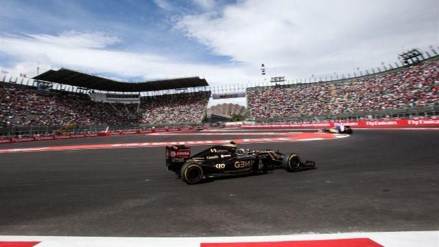 Pastor Maldonado (VEN) Lotus E23 Hybrid at Formula One World Championship, Rd17, Mexican Grand Prix, Qualifying, Circuit Hermanos Rodriguez, Mexico City, Mexico, Saturday 31 October 2015. &copy&#x3b; Sutton Motorsport Images