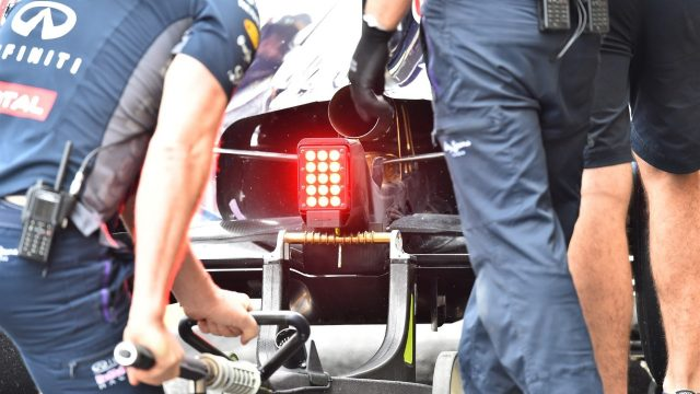 Red Bull Racing RB11 rear Detail at Formula One World Championship, Rd17, Mexican Grand Prix, Qualifying, Circuit Hermanos Rodriguez, Mexico City, Mexico, Saturday 31 October 2015. &copy&#x3b; Sutton Motorsport Images