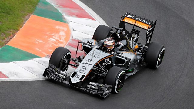 Nico Hulkenberg (GER) Force India VJM08 at Formula One World Championship, Rd17, Mexican Grand Prix, Qualifying, Circuit Hermanos Rodriguez, Mexico City, Mexico, Saturday 31 October 2015. &copy&#x3b; Sutton Motorsport Images