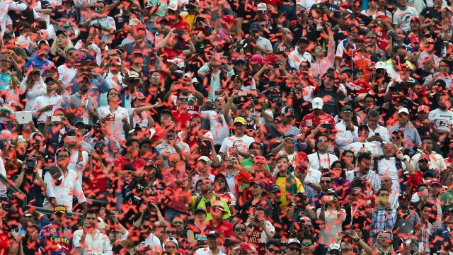 Fans at Formula One World Championship, Rd17, Mexican Grand Prix, Race, Circuit Hermanos Rodriguez, Mexico City, Mexico, Sunday 1  November 2015. &copy&#x3b; Sutton Motorsport Images