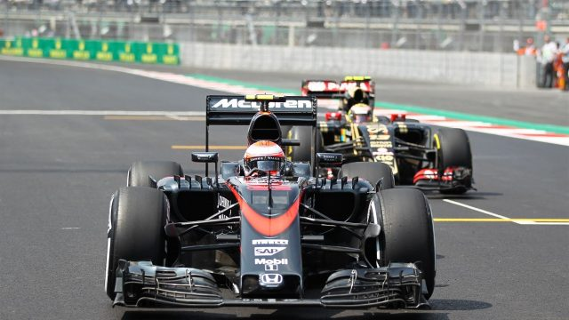 Jenson Button (GBR) McLaren MP4-30 on the grid at Formula One World Championship, Rd17, Mexican Grand Prix, Race, Circuit Hermanos Rodriguez, Mexico City, Mexico, Sunday 1  November 2015. &copy&#x3b; Sutton Motorsport Images