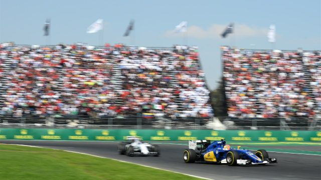 Felipe Nasr (BRA) Sauber C34 at Formula One World Championship, Rd17, Mexican Grand Prix, Race, Circuit Hermanos Rodriguez, Mexico City, Mexico, Sunday 1  November 2015. &copy&#x3b; Sutton Motorsport Images